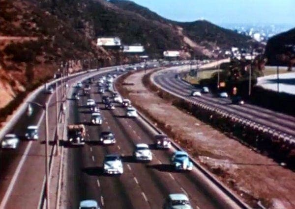Video of Los Angeles in the fifties (1954)