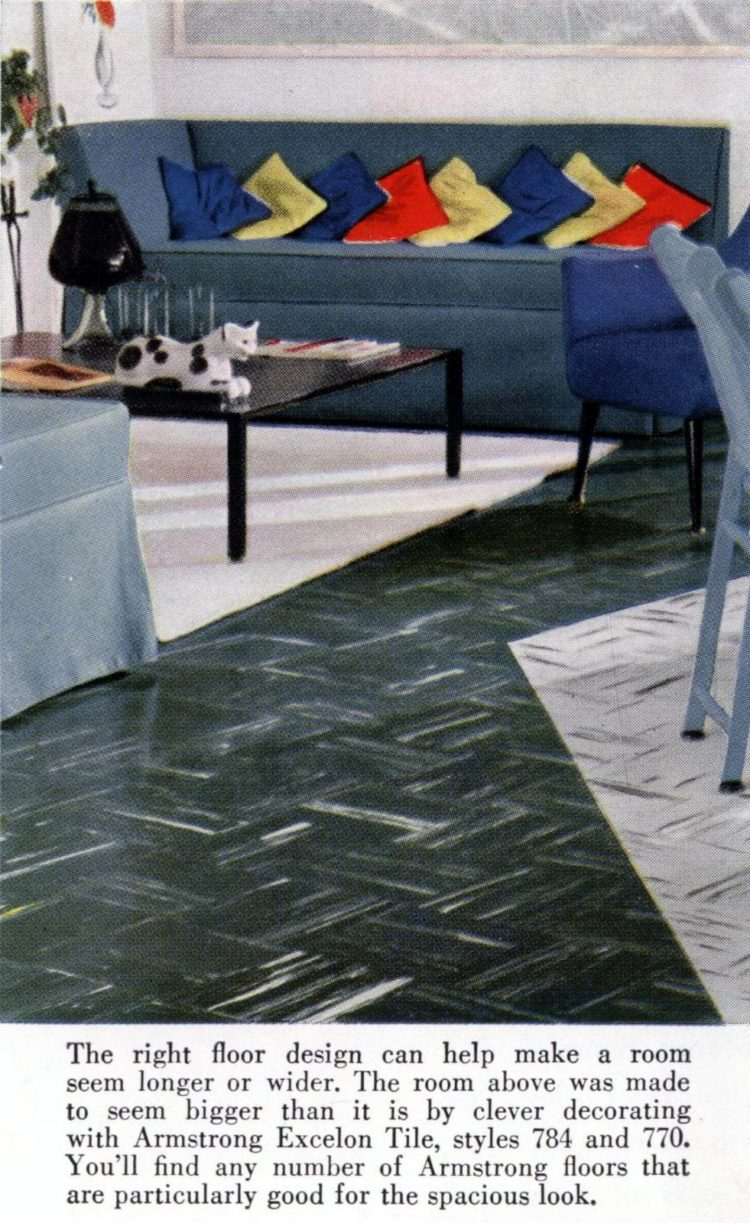 Flooring from the fifties: This room is even tinier than it looks
