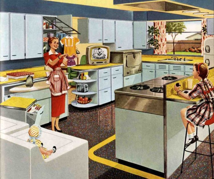 1950s modernistic kitchen from 1953