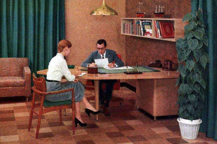 1950s secretary and boss
