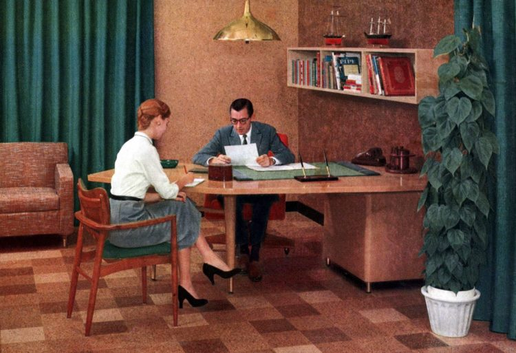 1950s secretary and boss - find a husband