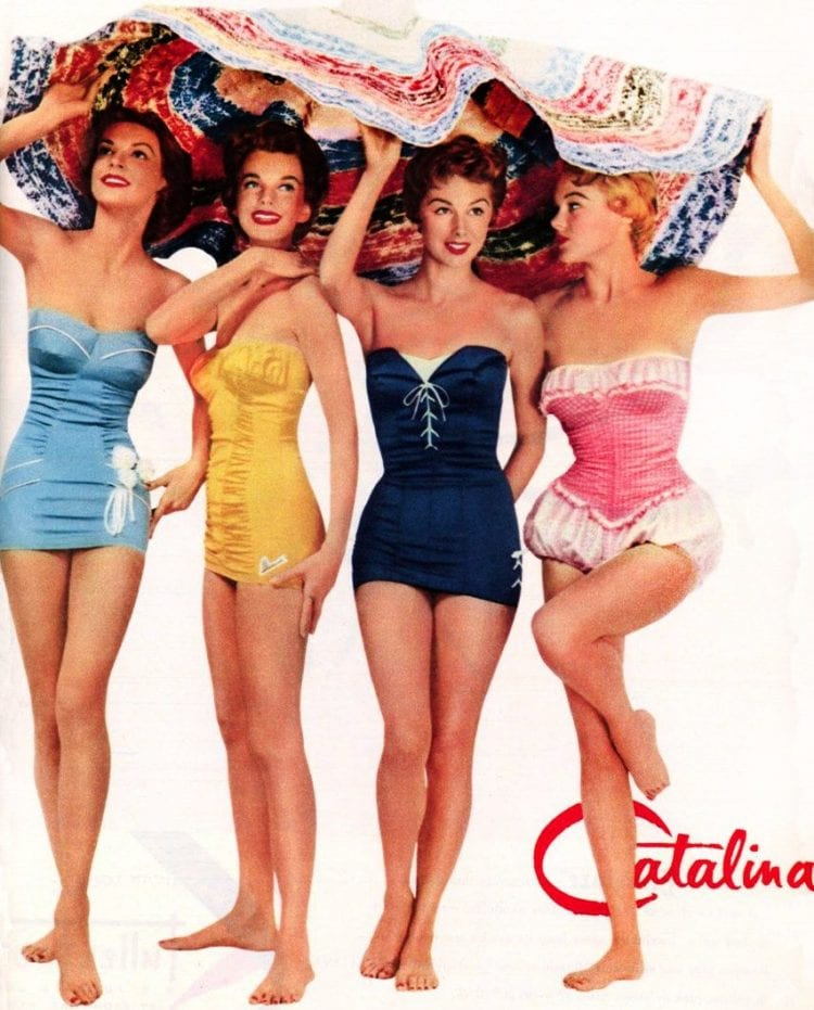 1950s swimsuits for women - Catalina brand fashion