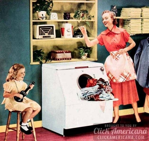 1951 Ad Westinghouse Laundromat Washing Machine