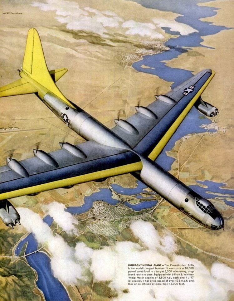 consolidated B-36 is the world's largest bomber