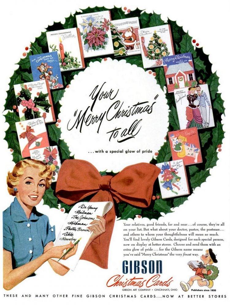 1951 Christmas cards