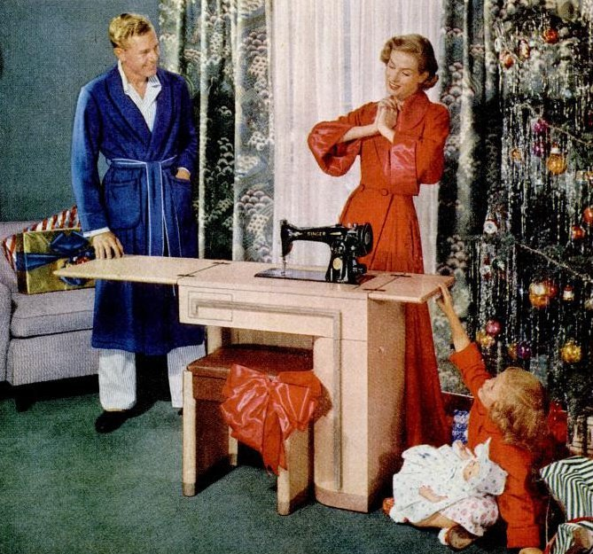 1951 Christmas gift of a sewing machine