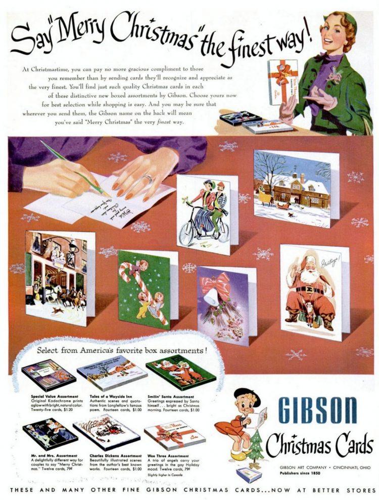 1951 Gibson Christmas cards