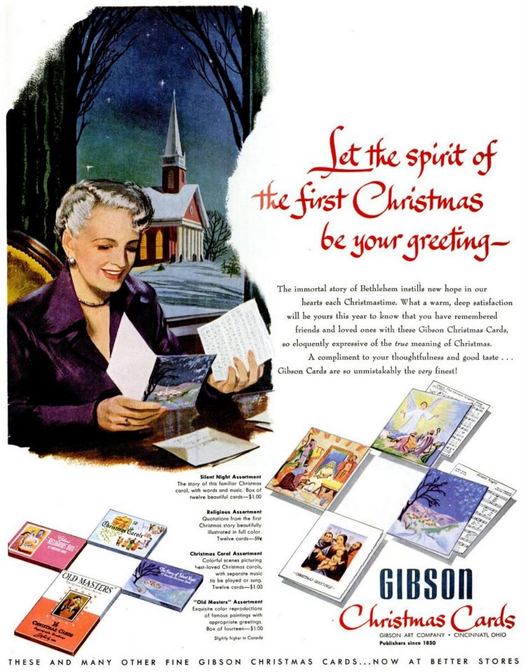1951 Gibson religious Christmas cards
