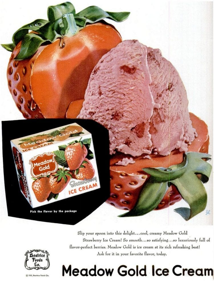 1951 Strawberry ice cream