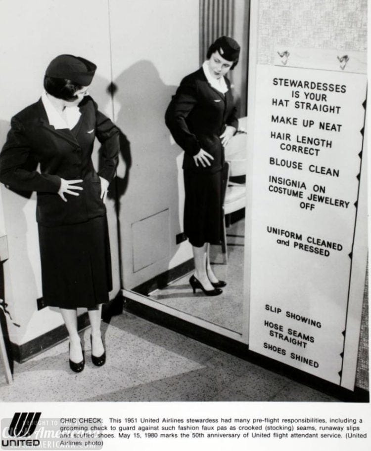 1951 United Airlines Chic Check