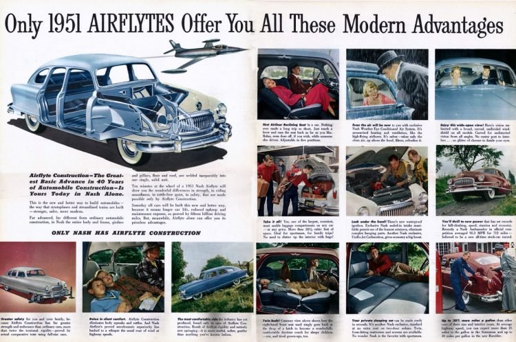 Only 1951 Airflytes offer you all these modern advantages