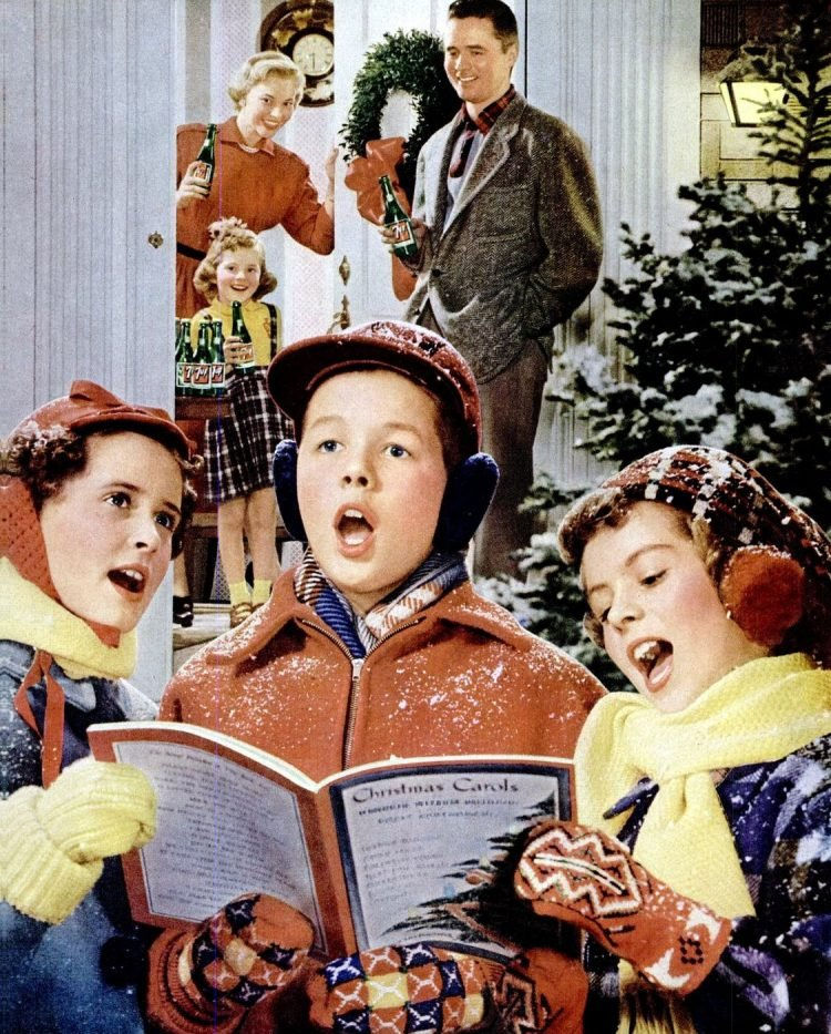 1952 Christmas carolers