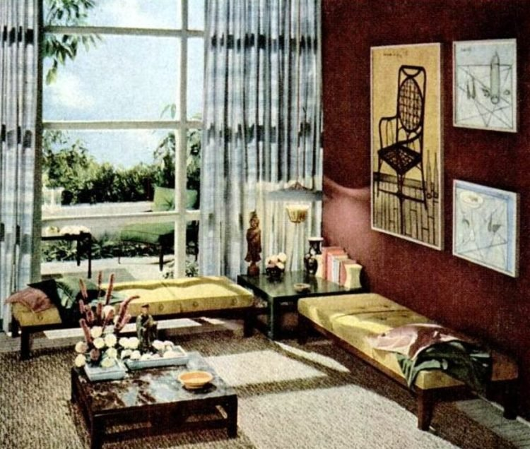 1952 Home decor and draperies