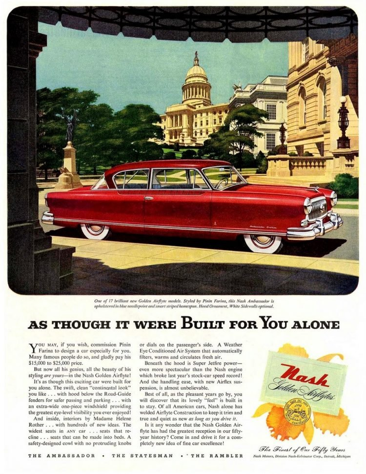 1952 Nash Airflyte cars - Built for you