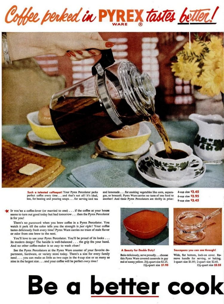 1952 Pyrex coffee maker