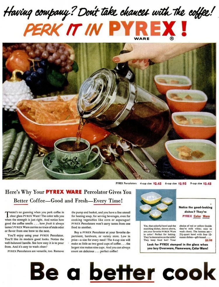1952 Pyrex coffee percolator