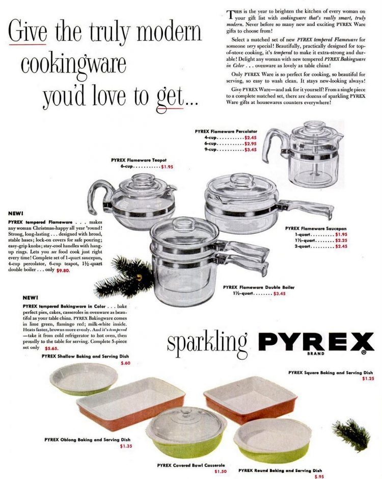 Vintage Pyrex From The 50s Color Bakingware Glass Pyrexware Dinnerware Flameware More Click Americana