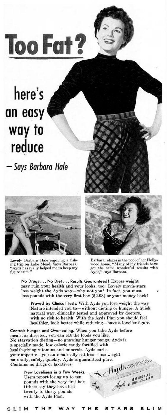 1953 Beauty fashion weight actress Ayds