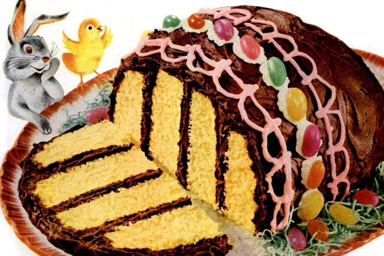 1953 Easter egg cake recipe