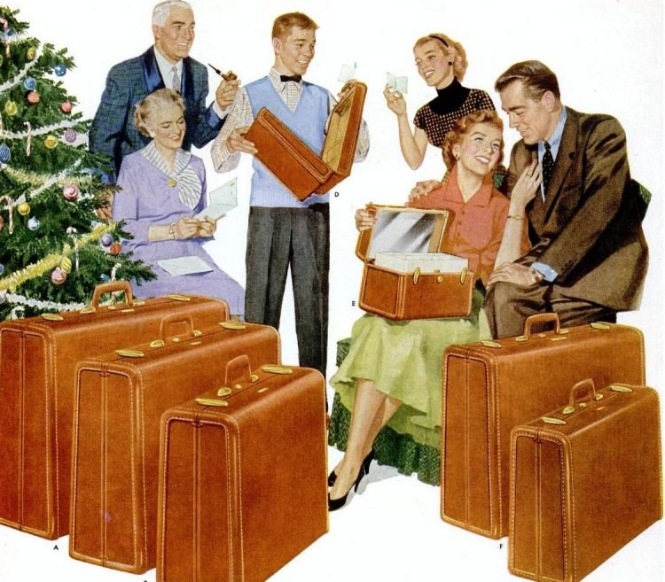 1953 Luggage for Christmas