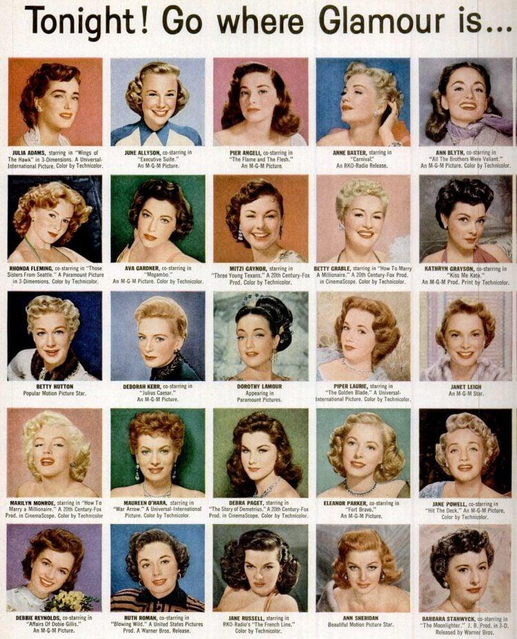1953 Vintage celebrities shampoo