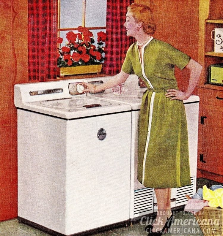 Doing laundry in the 1950s was so simple!