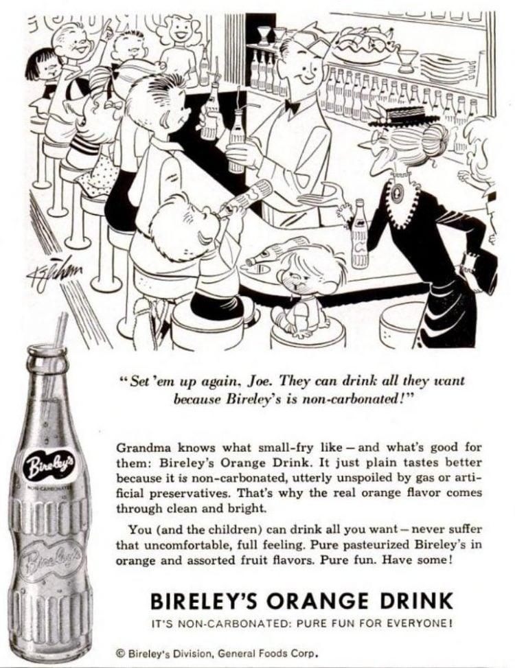 1954 Bireley's orange drink