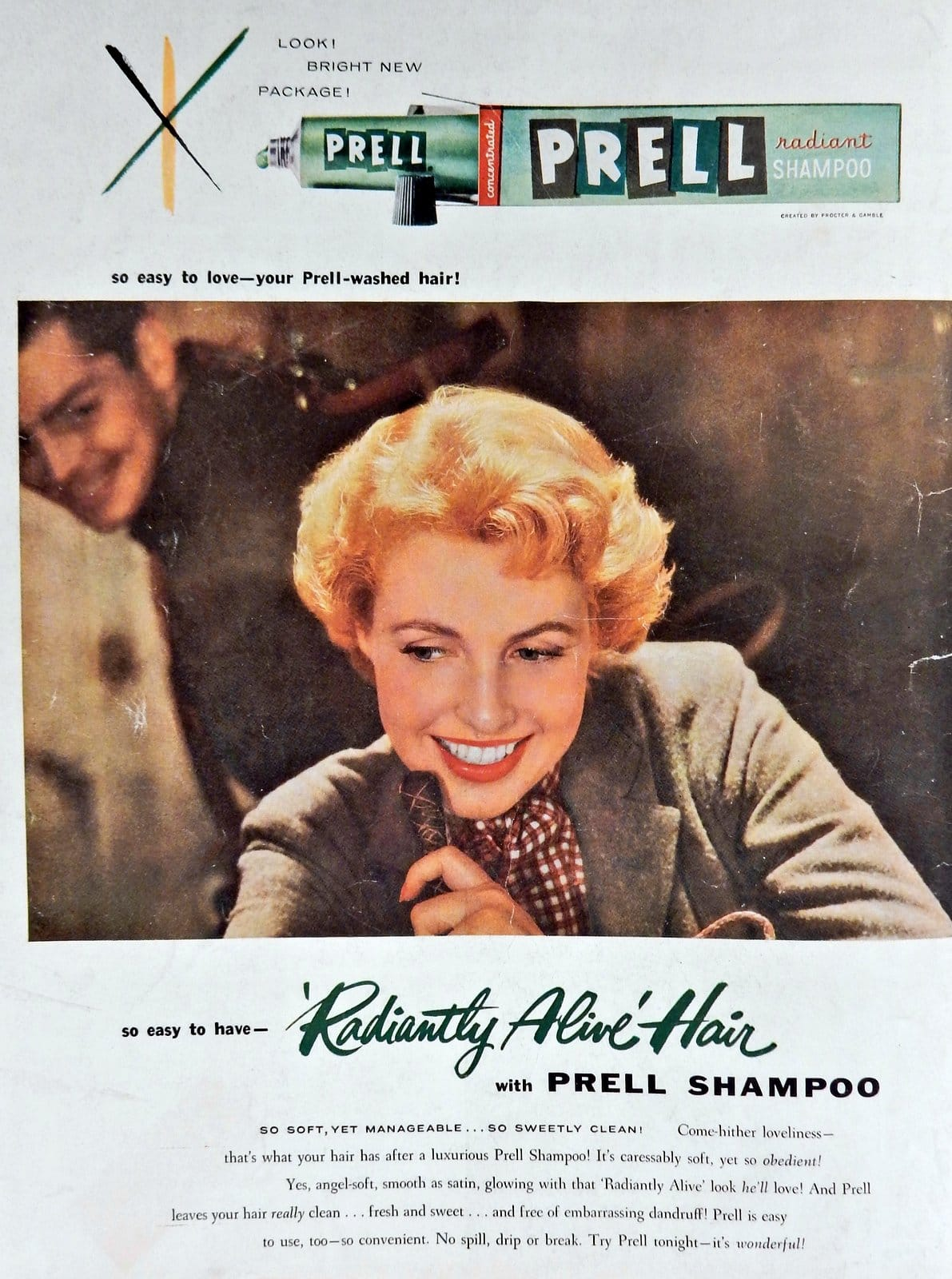 1954 - Prell shampoo for radiantly alive hair