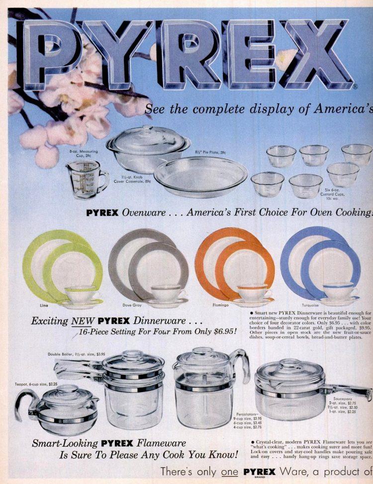 1954 Pyrex dinnerware