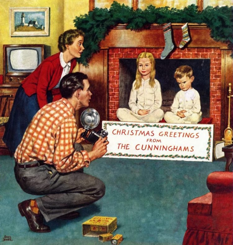 1954 Taking the Christmas photo