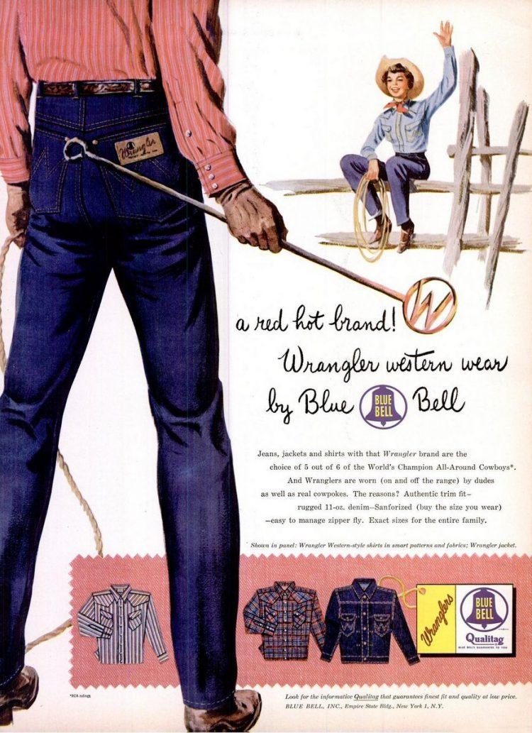 1954 Blue Bell Wrangler jeans