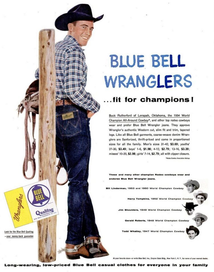 1955 Blue Bell Wranglers fit for champions