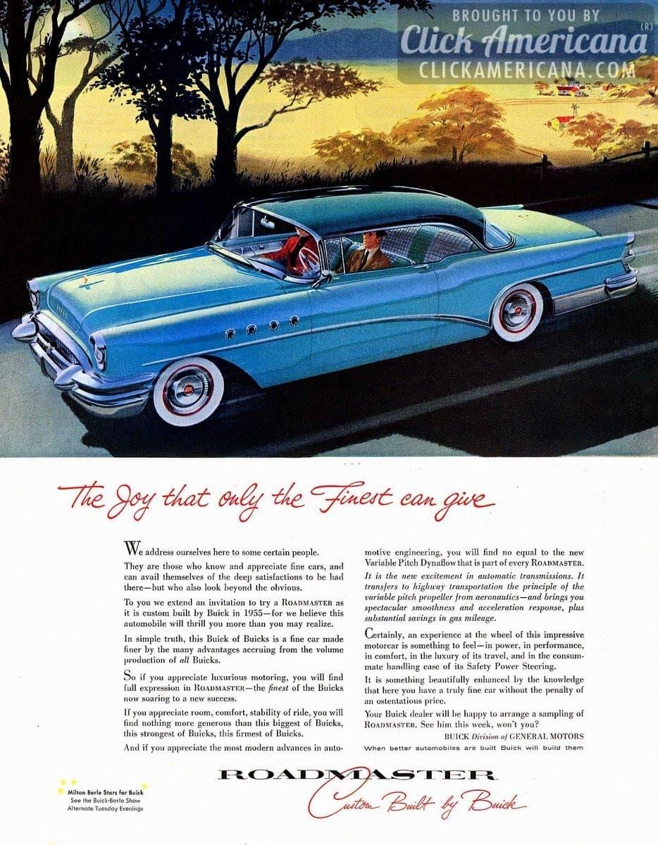 '55 Buick Roadmaster: Here you swing your spirits skyward