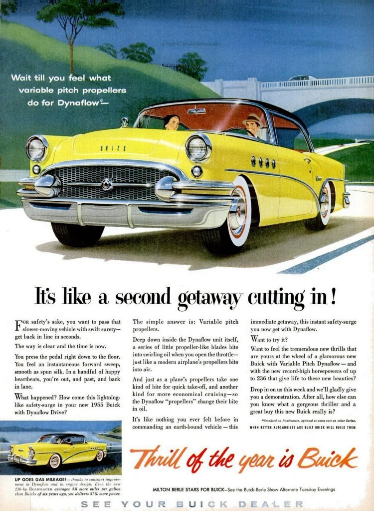 1955 Buick cars - Yellow