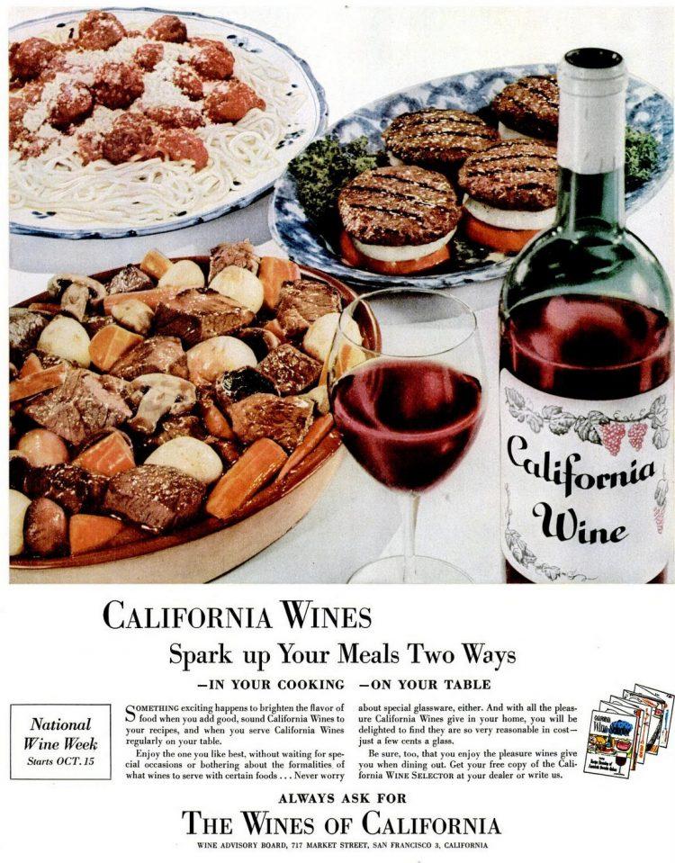 1955 California wines