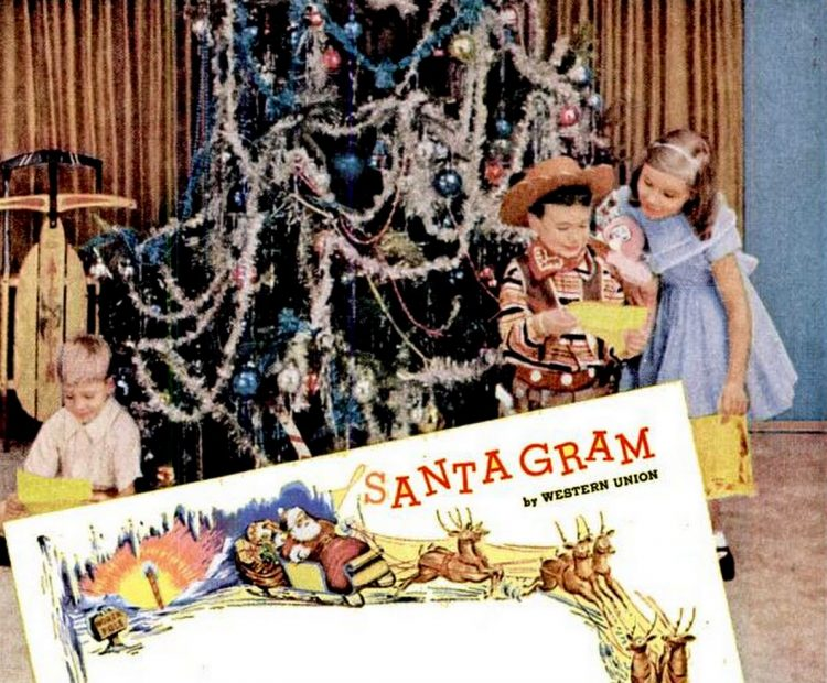 1955 Christmas telegram