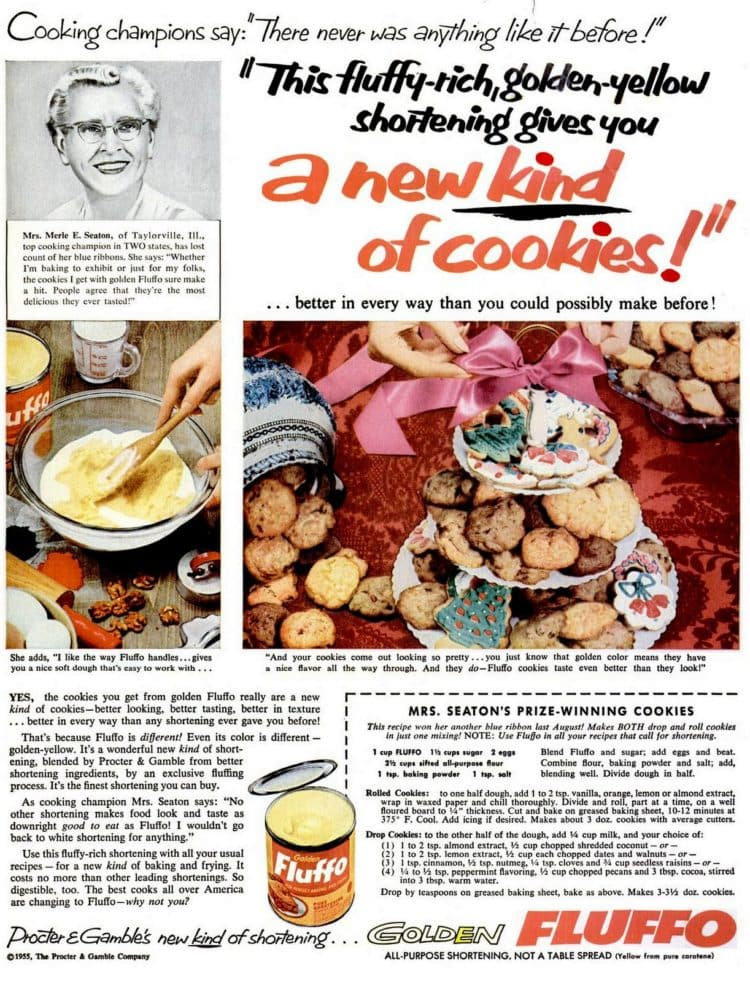 1955 Classic Christmas cookie recipes
