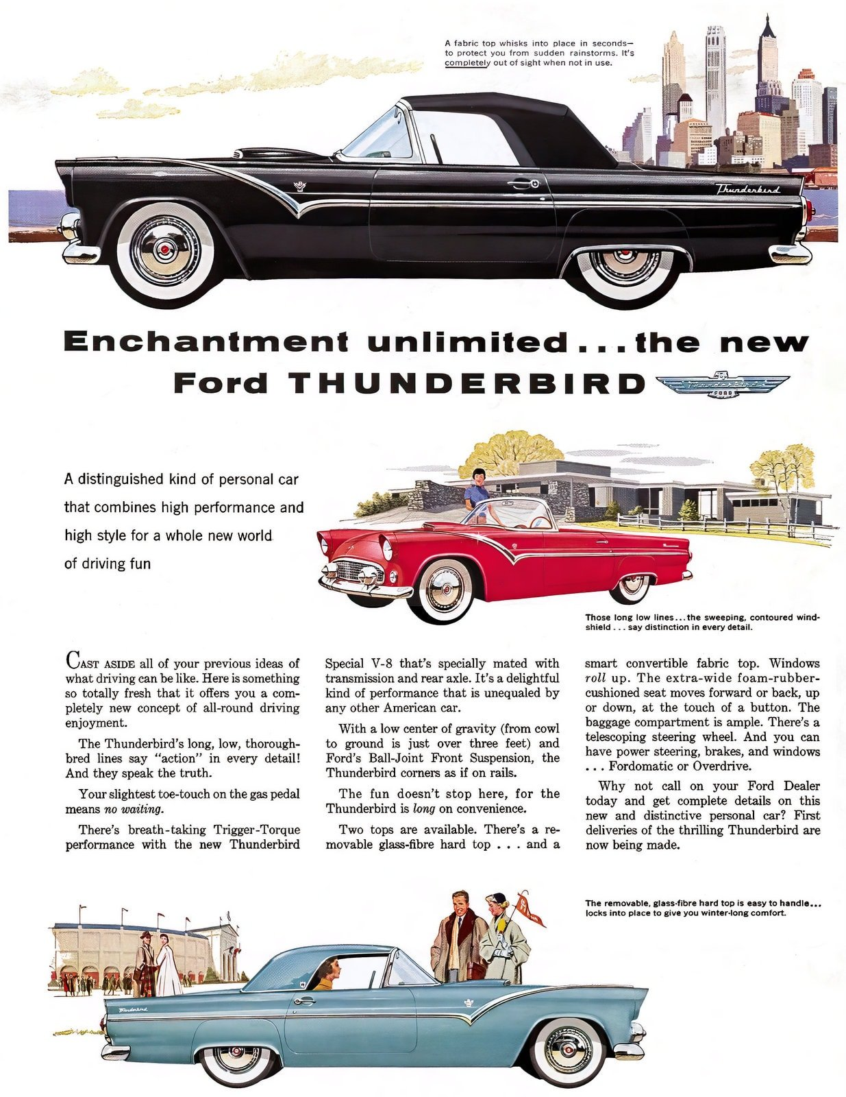 1955 Ford Thunderbird (1954 debut)
