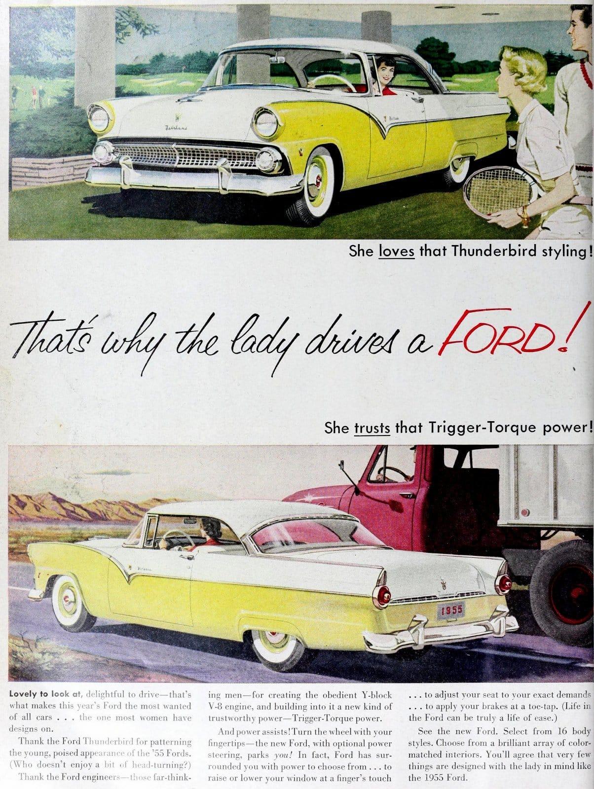 1955 Ford Thunderbird cars