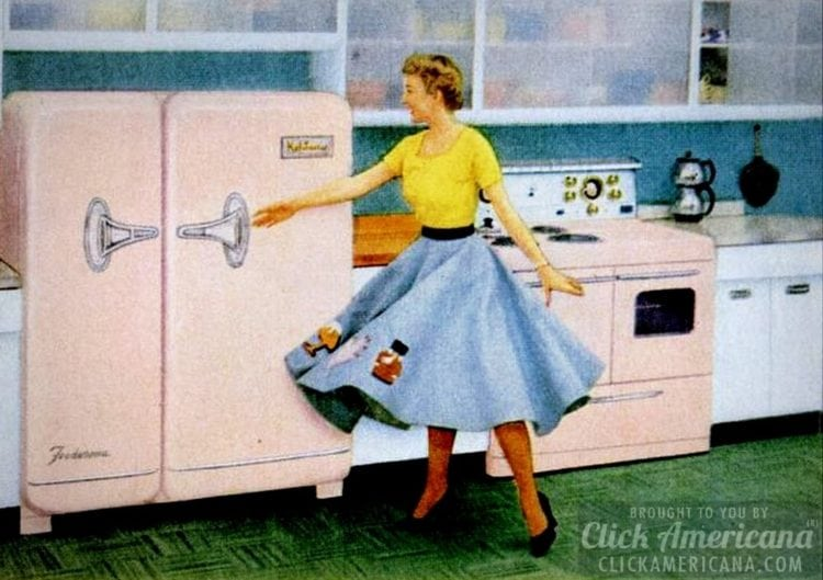 The refrigerators of the early fifties were apparently great fun at the sock hop.