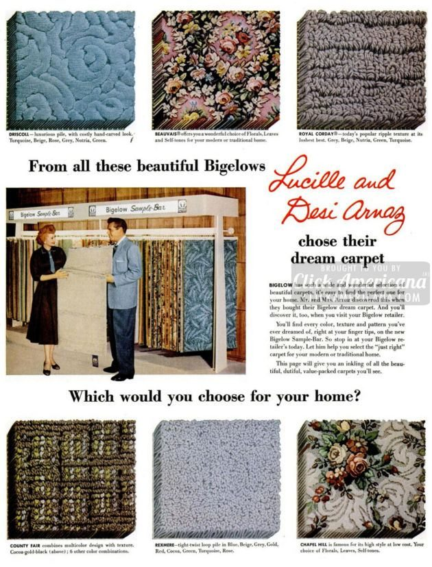 1955 Lucy and Desi for Bigelow carpet (1)