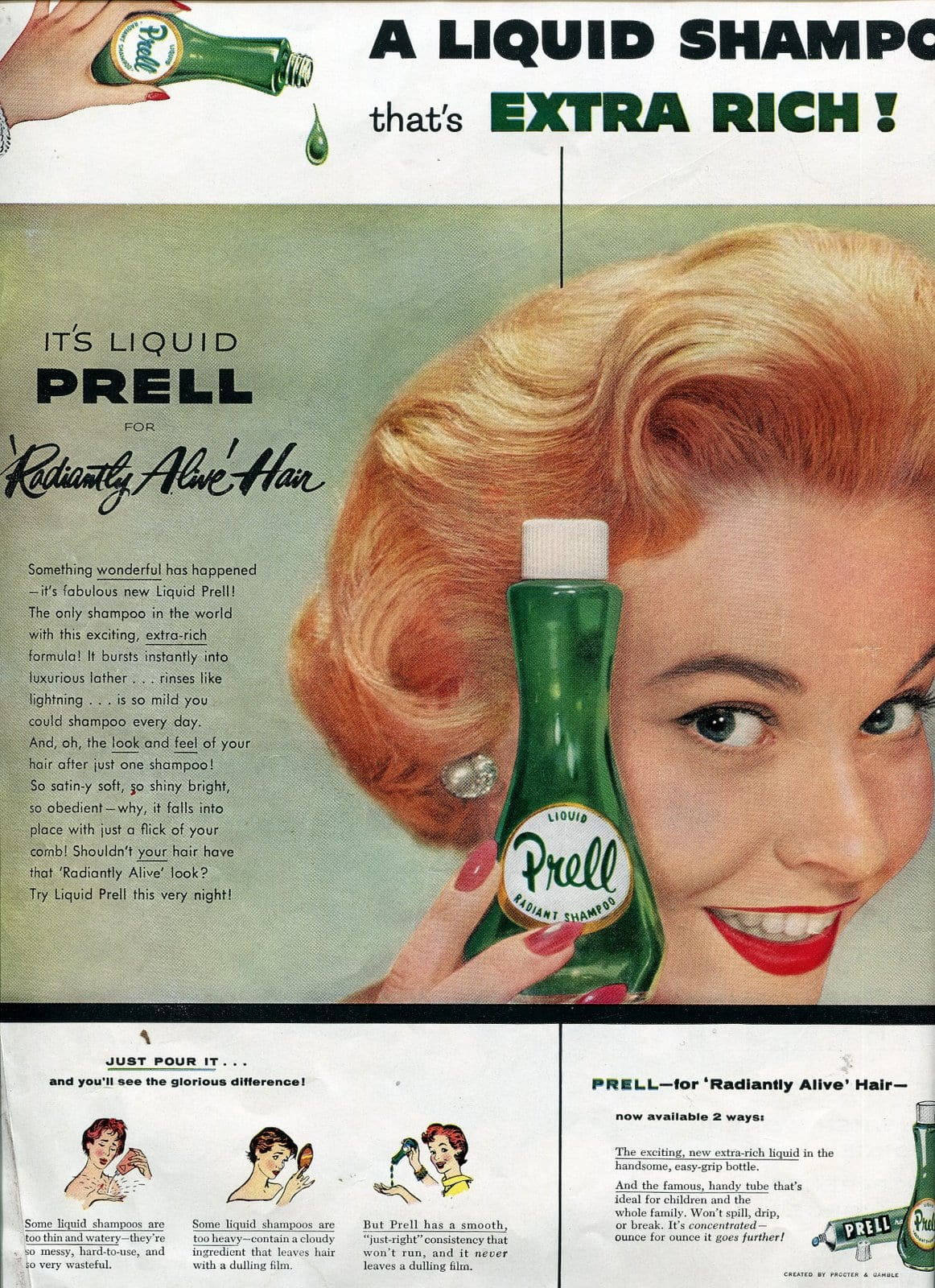 1955 Prell shampoo