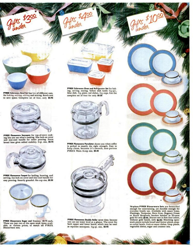 1955 Pyrex dishes and more