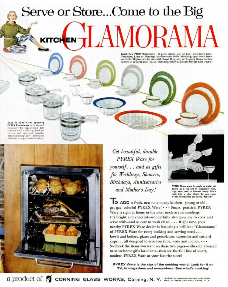 1955 Pyrex kitchen Glamorama