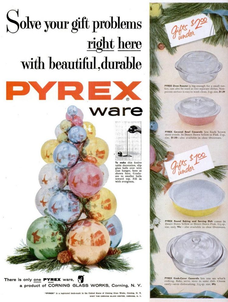 1955 Pyrex kitchenware