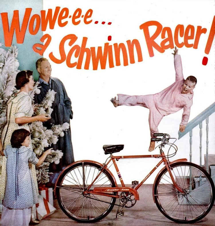 1955 Schwinn bicycle for Christmas