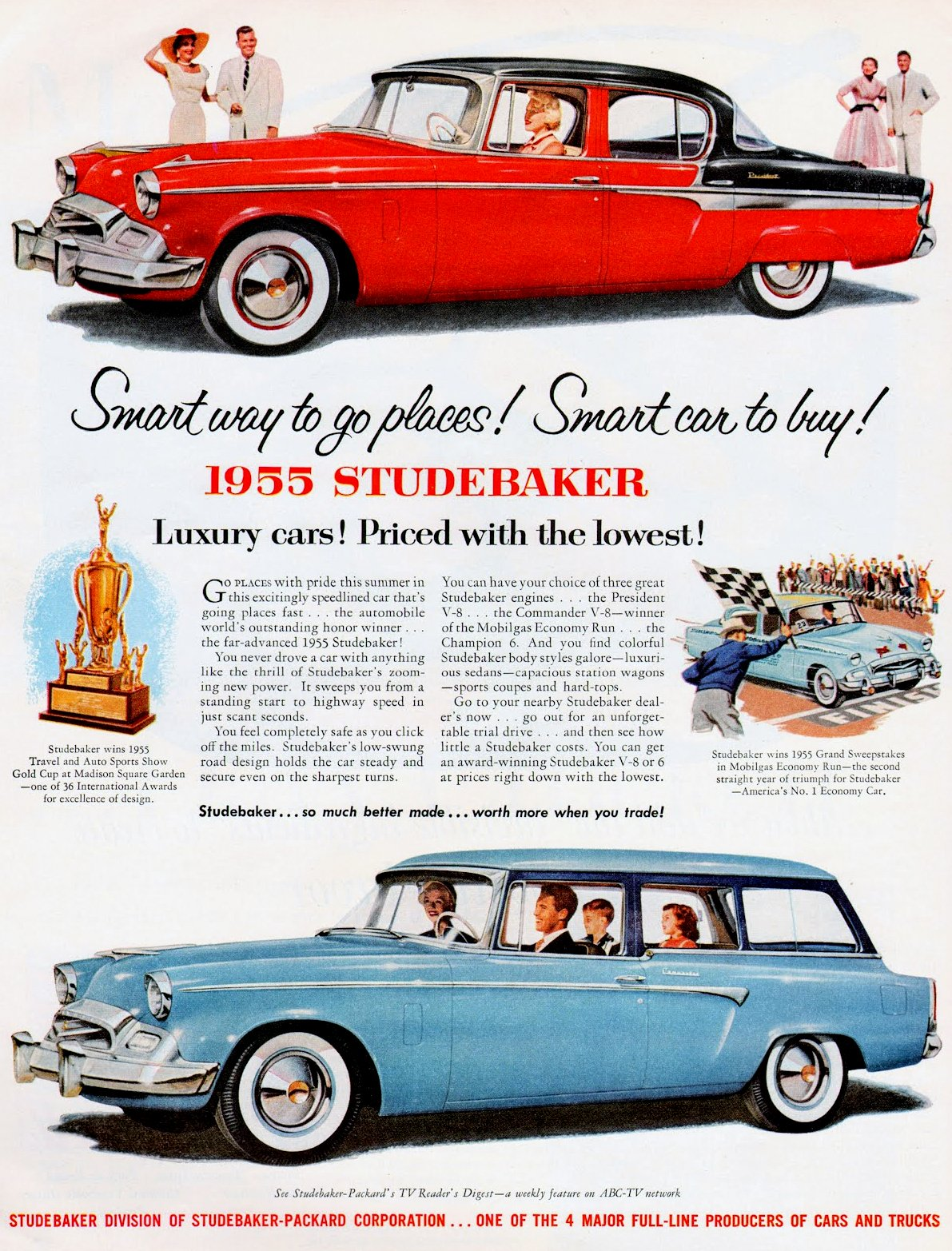 1955 Studebaker Luxury cars - priced with the lowest!