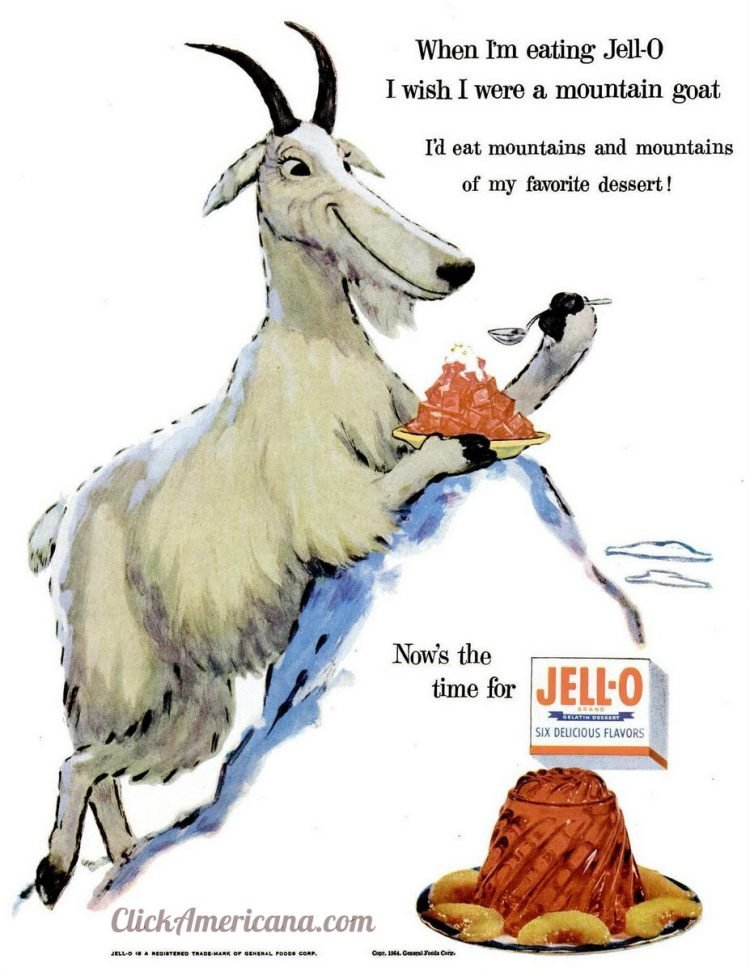 1955 - The JellO goat