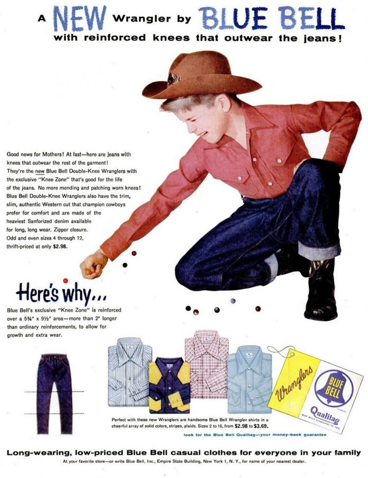 1955 Wrangler Blue Bell denim jeans