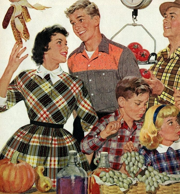 1955 autumn - teens dating and fall harvest